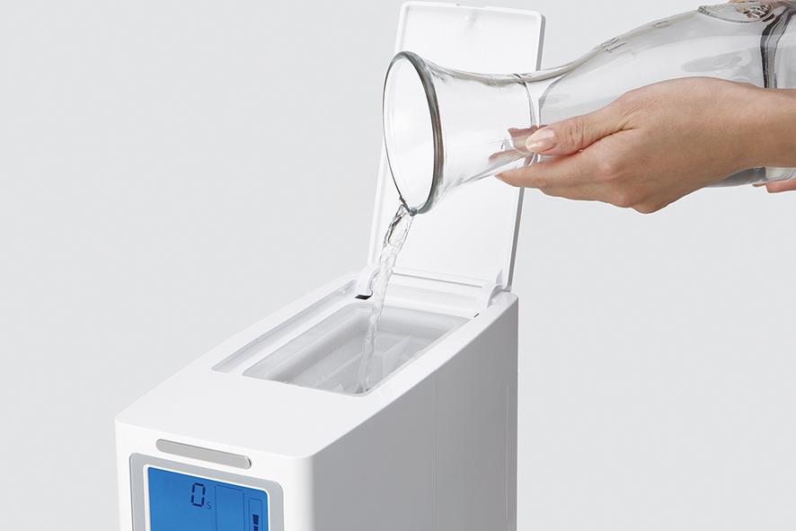 Hidrogenador sin instalación, llenandolo de agua