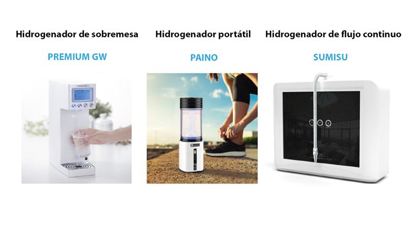 diferentes tipos de hidrogenadores de agua